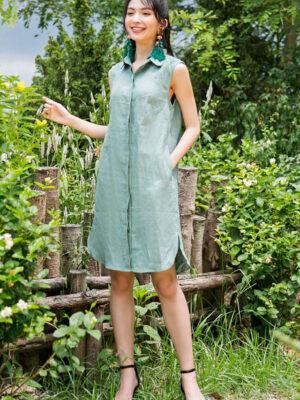 Váy đầm sơ mi gile Olive 6