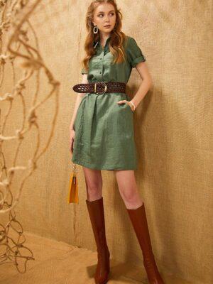 Váy đầm cổ đức dáng A Green 7