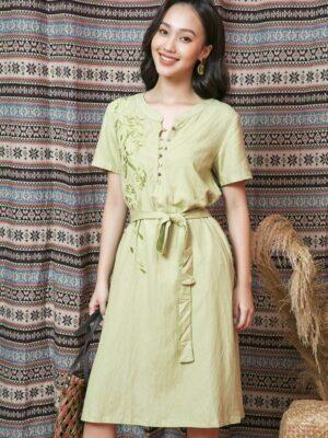 Váy đầm thêu hoa Mint 8