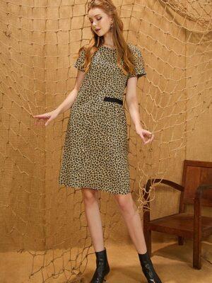 Váy đầm nhún eo Brown 9