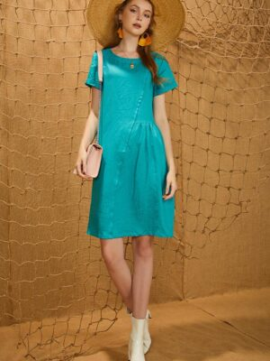 Váy đầm nhún eo Turquoise 8