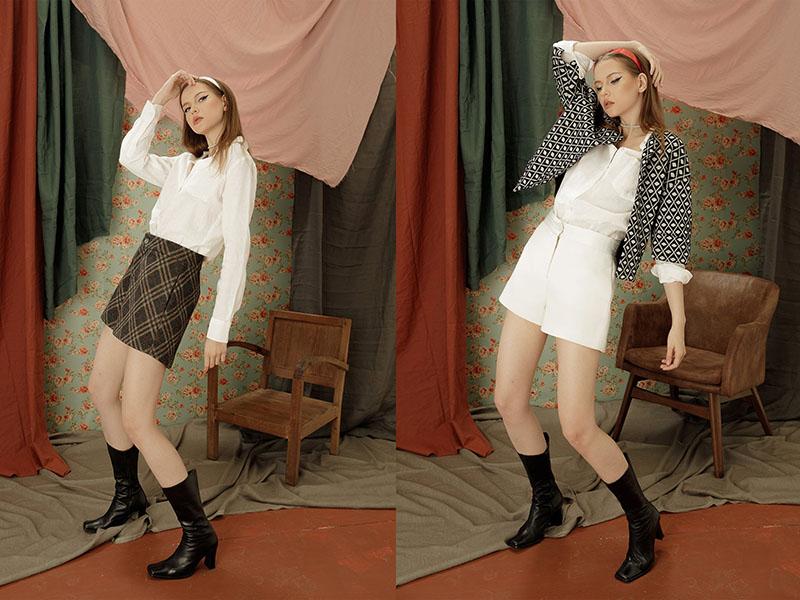 Đơn giản mà vẫn hiện đại, thanh lịch cùng quần sooc dạ mềm