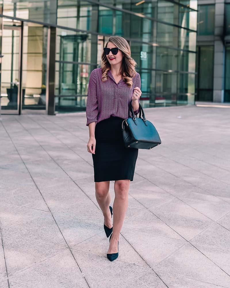 Outfit đơn giản mà thanh lịch cho quý cô công sở ngày lạnh