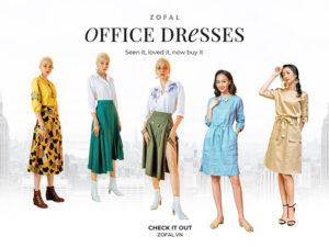 Chọn váy công sở siêu xinh cho những cô nàng bận rộn