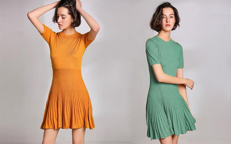 Váy len dáng xòe – lựa chọn cho sự duyên dáng