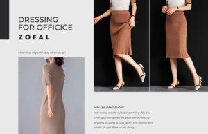 Cách mix váy len công sở