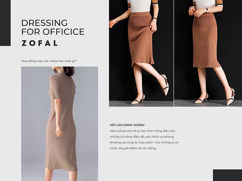Học ngay bí kíp mix match các kiểu váy len mùa đông cho nàng công sở