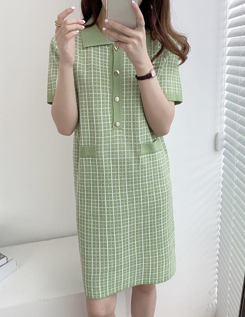 Váy len suông phong cách Hàn Quốc